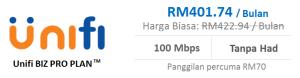 Unifi pakej biz pro plan 100Mbps