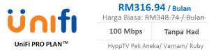 Unifi pakej pro plan 100Mbps