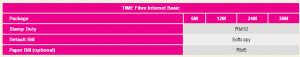 time fibre broadband bill