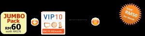 unifi promotion VIP10 jumbo pack