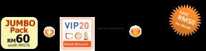 unifi promotion VIP20 jumbo pack