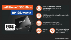 unifi 100Mbps TV Plus Box